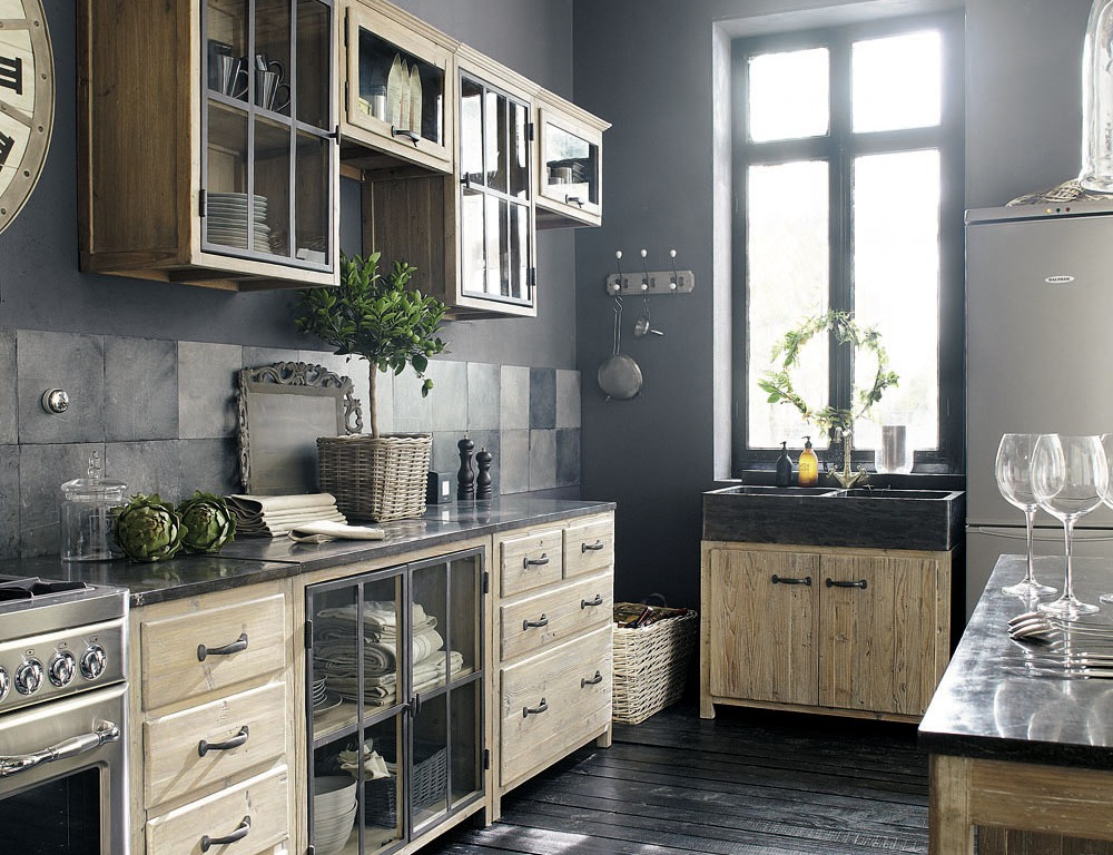 la cuisine de campagne contemporaine ou comment allier. Black Bedroom Furniture Sets. Home Design Ideas