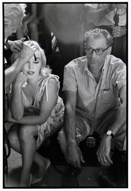 USA. Reno, Nevada. 1960. Marilyn MONROE with husband Arthur MILLER during the filming of The Misfits. ©Bruce Davidson/Magnum Photos