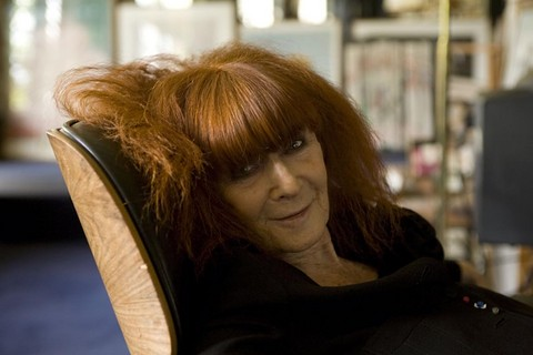 FRANCE. Paris. 2008. Sonia Rykiel French fashion designer at her home.