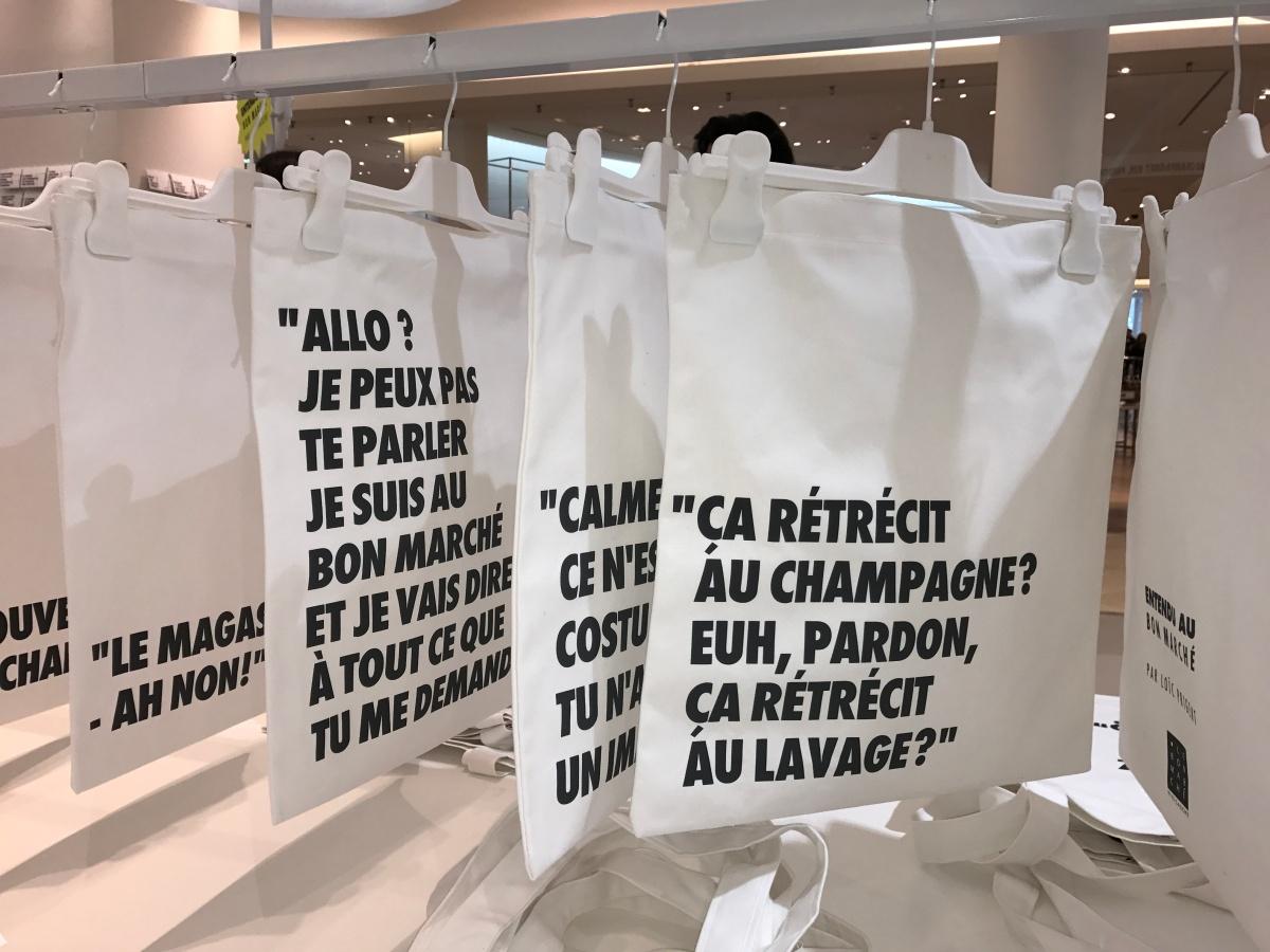 (Expo) « Entendu au Bon Marché » par Loïc Prigent : le shopping n'a jamais été aussi drôle !